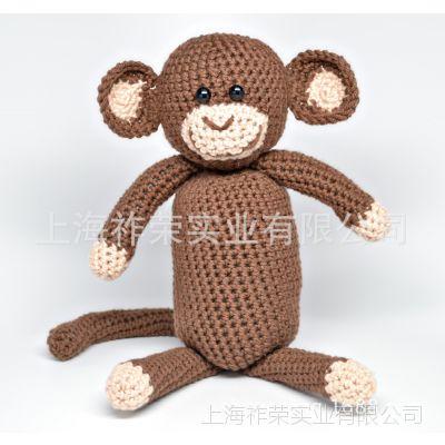 [厂家直销]毛线手钩动物 手工毛线编织公仔 钩编公仔 针织娃娃