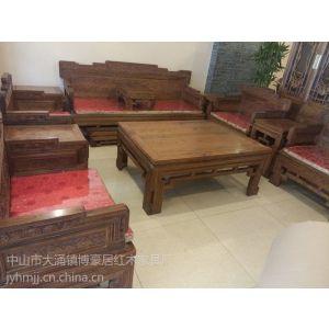 供应广东中山红木非洲檀香木沙发十套厂家直销