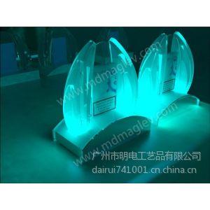 供应led亚克力艺术造型透明展示架 RGB多彩灯光显示效果