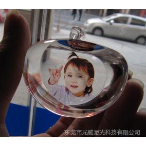 供应水晶苹果定做照片水晶工艺品水晶艺术照内雕机打标机雕刻机艺术品