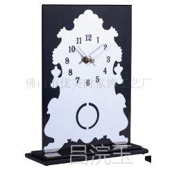 创意 时尚复古 玻璃 石英 台钟