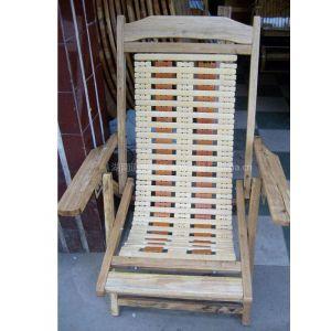 江桥竹藤生态装饰工艺品厂定做批发实木沙滩椅 休闲椅 躺椅等