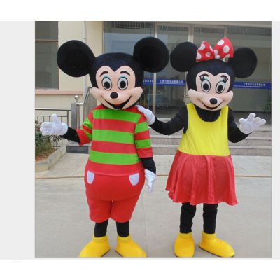 厂家供应批发米老鼠米奇米妮卡通人偶活动表演舞台演出行走服装定做包邮