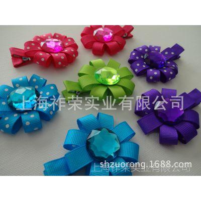 厂家定做手工花头饰 手工珠绣复古发箍 水晶串珠发带 编织花头饰