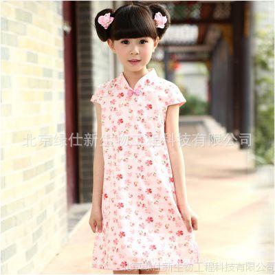 一件代发新款缨锦荟美女童礼服裙纯棉儿童旗袍夏民族风唐装演出服