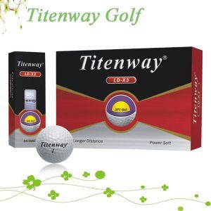 供应深圳银兔高尔夫用品Titenway三层高尔夫比赛球3层高尔夫球LD-X3