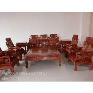 供应中山博豪居红木刺猬紫檀八宝如意沙发