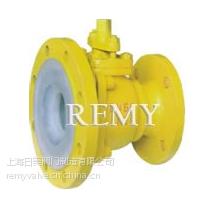 供应上海日美泵阀 QF41F46/F3衬氟放料球阀