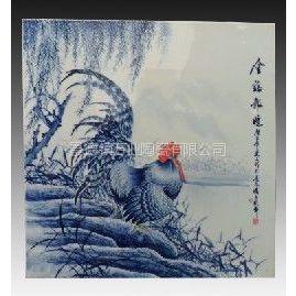 供应手绘青花瓷板画 室内装修瓷板画定做 景德镇陶瓷瓷板画 青花瓷板画