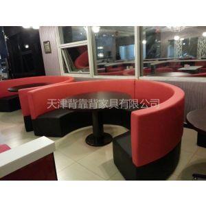 供应天津市背靠背沙发餐厅卡座沙发厂家