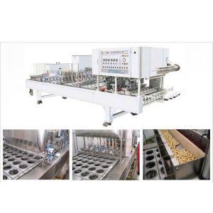 供应专业生产FKJ-4型全自动八宝粥灌装封口机(三次灌装)