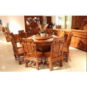 供应圆桌红木圆桌青岛红木家具专卖红木餐桌红木的种类红木家具批发