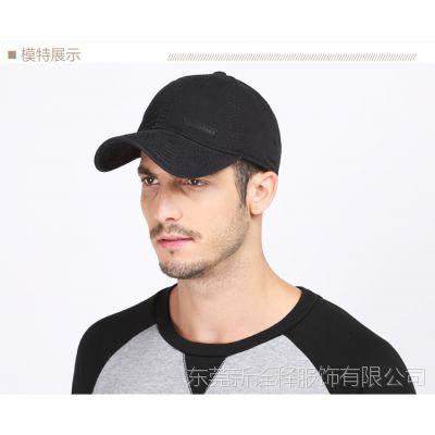 韩版简约棒球帽 全棉休闲运动帽 可调节光板棒球帽 东莞帽厂订购