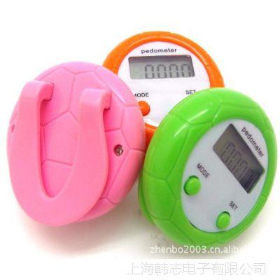 供应足球计步器两键计步器卡路里计步器圆形