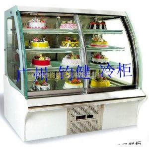 供应广州钧健HLB-1200欧式前开门保鲜柜   蛋糕展示柜