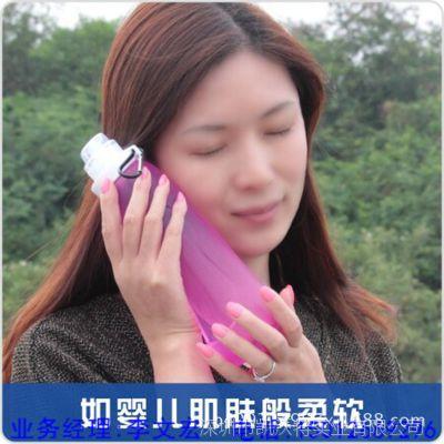 【硅胶折叠水瓶】 运动水壶批发 创意旅行水袋又可以当暖手宝使用