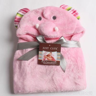 婴儿3D动物披风宝宝浴巾披风 新生儿造型动物毯 法兰绒婴幼儿毯