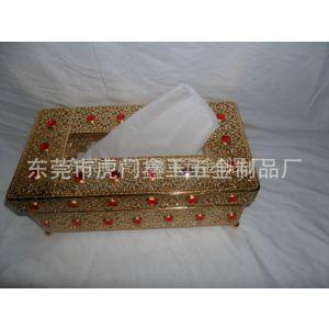 供应广东供应高级仿金纸巾盒东莞批发纸巾抽