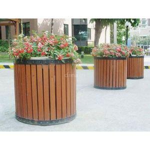 供应优质花箱 街道种植花箱 广东圆形实木花箱