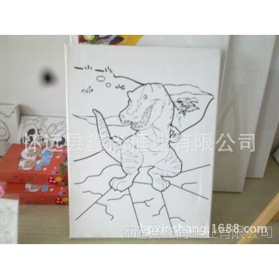 供应 各规格 单色印刷 纯棉帆布 儿童油画框,厂家直销