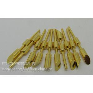 供应H68国标铜电子元件感应棒非标五金小零件1.5um厚镀金穿孔导电探针