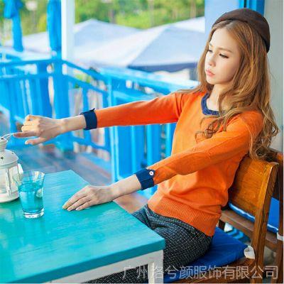 2014秋装新款韩版百搭低领打底毛衣针织衫打底衫女式长袖毛衣