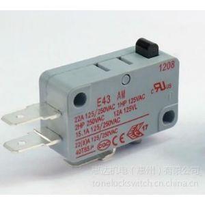 供应TONELUCK E43大电流微动开关 22A 即热水笼头专用微动开关