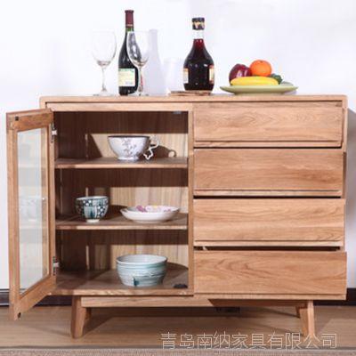 实木家具  实木储物柜 实木边柜 厂家直销 一件代发