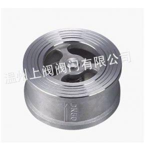 供应不锈钢对夹式止回阀 不锈钢蝶形止回阀 H71W-16P