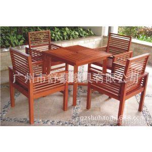 供应SH-T086北京房地产实木家具套椅、深圳绿化小区山樟木桌椅、上海