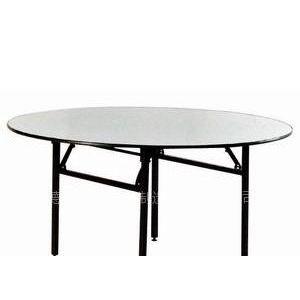 酒店桌餐桌宴席桌饭桌宴会桌大圆台1.8/1.6/1.5大折叠桌饭桌餐桌 白色PVC面折叠台