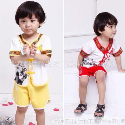 新款 童乐谷 蛇年吉祥 宝宝套装 周岁纯棉男童唐装套装 红色