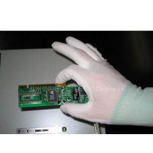 供应防静电尼龙PU涂掌手套 涂层手套