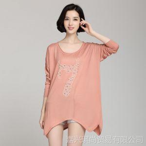 供应2013韩版毛衣秋装新品宽松长袖圆领连衣裙纯色针织打底衫现货批发