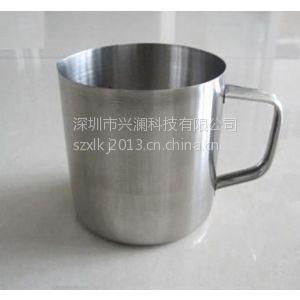 供应304不锈钢量杯500ml 带刻度烧杯 耐腐蚀不生锈易清洗烘烤化工医用