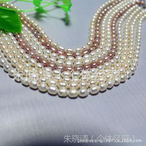供应小额混批  圆米珠成品项链 淡水珍珠 天然珍珠项链