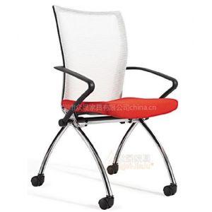 供应深圳众晟家具ZS-B209布艺办公椅多功能折叠会议培训椅