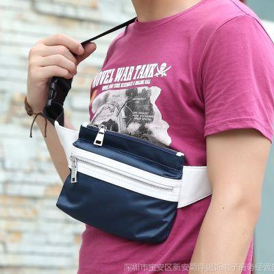 供应批发1件代发新款小腰包 男包 胸包防水尼龙小挎包