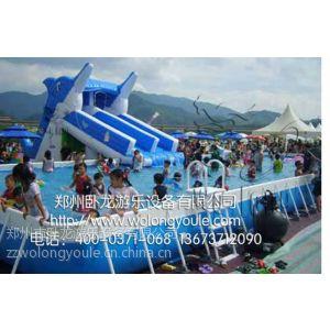 供应卧龙框架游泳池价格 支架水池价格 移动平台游泳池