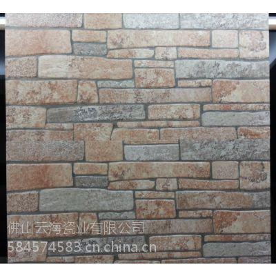 供应发源地陶瓷仿古外墙砖 文化石 电视背景墙 仿石材凹凸 立体欧式田园风格 300*600