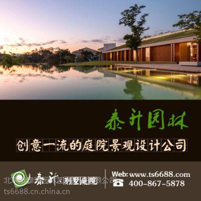 别墅庭院设计施工公司有讲究,泰升园林让石景更完美