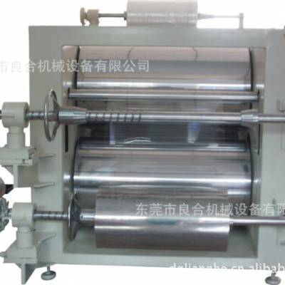 供应【1.0mm磨砂PP塑胶片横切机】良合4滚油温加热整平