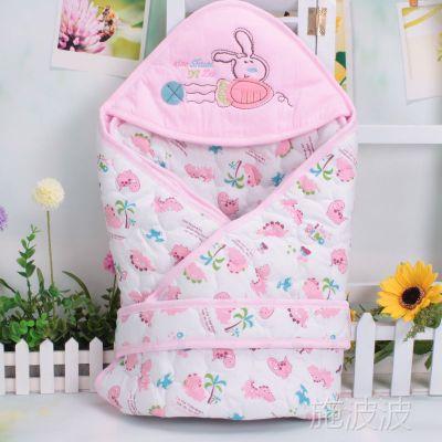 新款 小帅一族 婴儿秋冬季保暖抱被 加厚绗棉婴儿抱被 抱毯