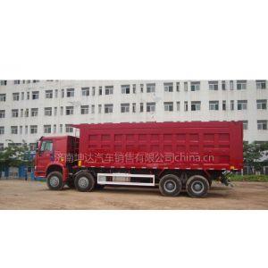 供应豪沃8米出口国三自卸车价格可境外施工的工程车