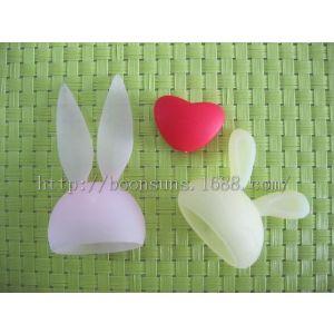 供应兔子爱心形状LED小夜灯硅胶灯罩