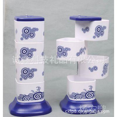 古典青花调味盒/旋转调料盒\罐 省空间方便实用 厨房必备!调味瓶