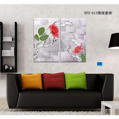 供应碳晶墙暖 厂家直销 诚招各地经销代理 无框碳晶墙暖 墙暖画