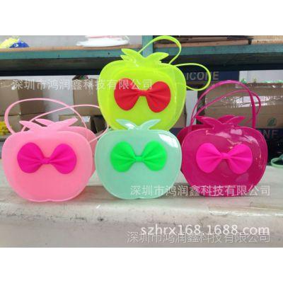 新款可爱卡通儿童包包 斜挎包女童手提斜跨两用包PVC水果系列女包