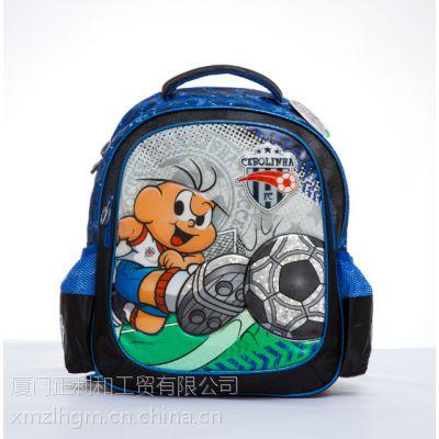 厂家直销 小学背包 旅行包时尚卡通足球幼儿园 小学生双肩书包(Z14)