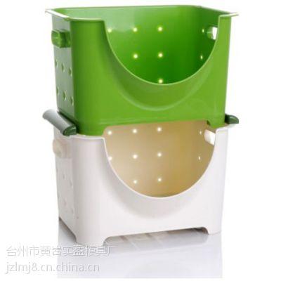 供应各种优质耐用塑料篮子折叠蔬菜水果篮子模具注塑加工